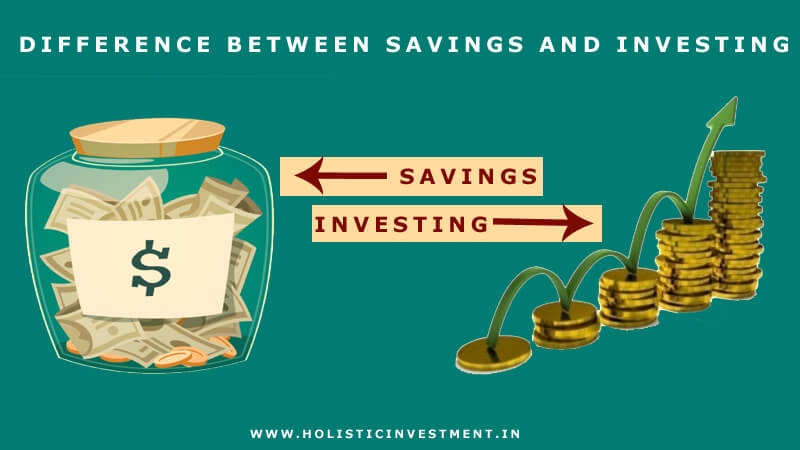 difference between savings and investing