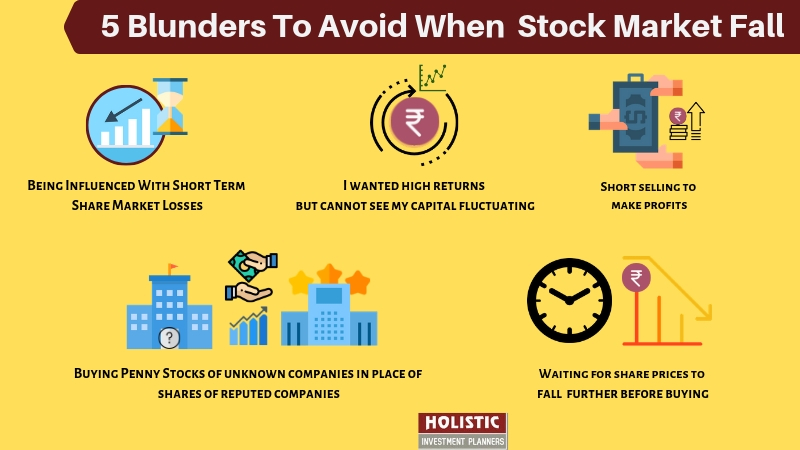 5 Blunders To Avoid When Stock Market Fall