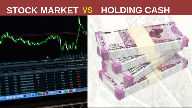 Stock market vs Cash,Stock market, Cash