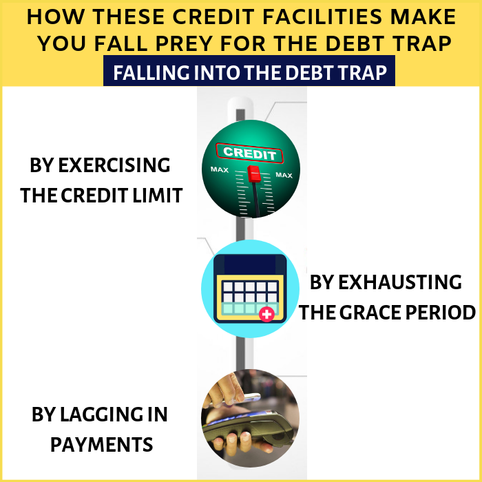 How these credit facilities make you fall prey for the debt trap