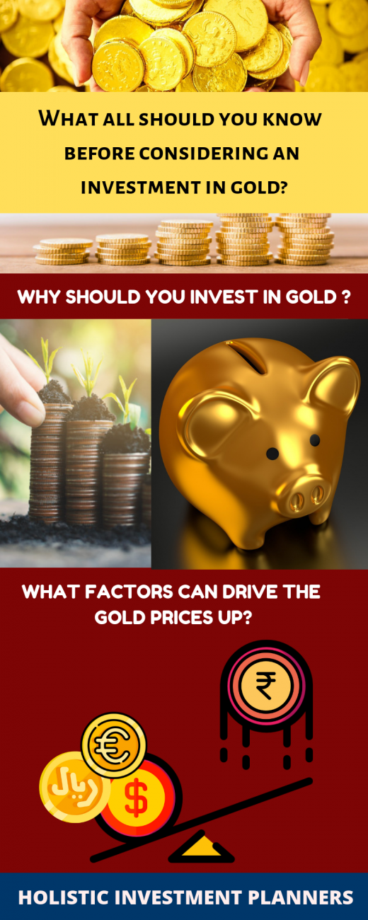 What all should you know before considering an investment in gold