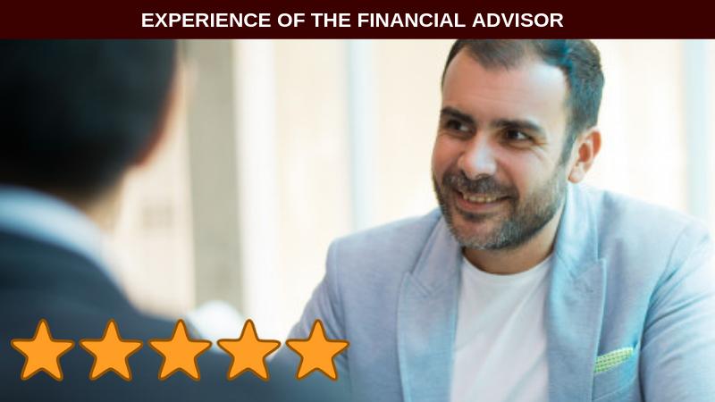 Experience of the Financial Advisor Investment Advisor