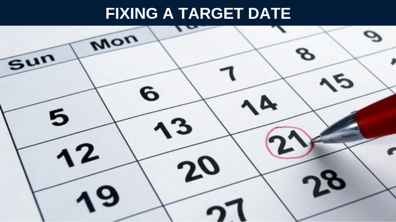 Fixing a target date