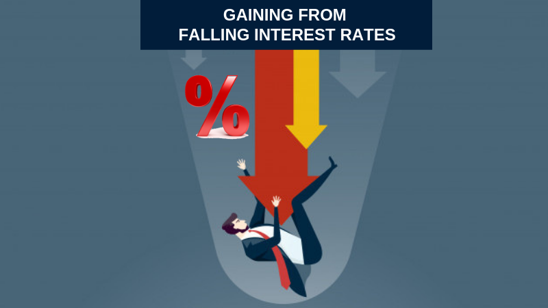 Gaining from falling interest rates