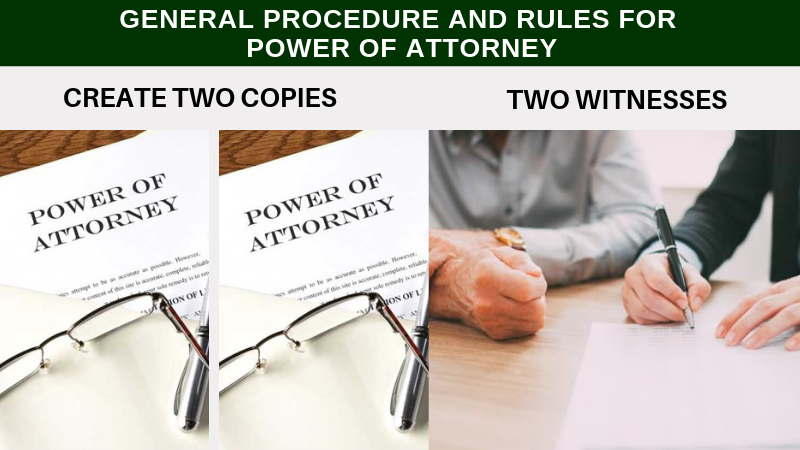 General procedure and rules