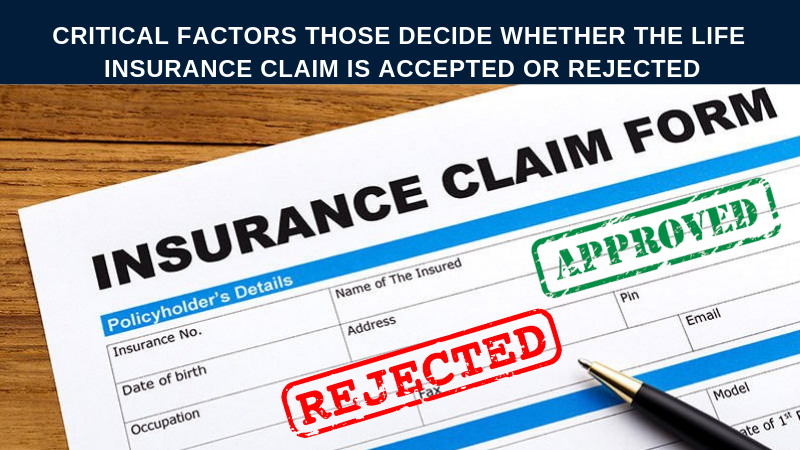 Insurane claim form accepted or rejected