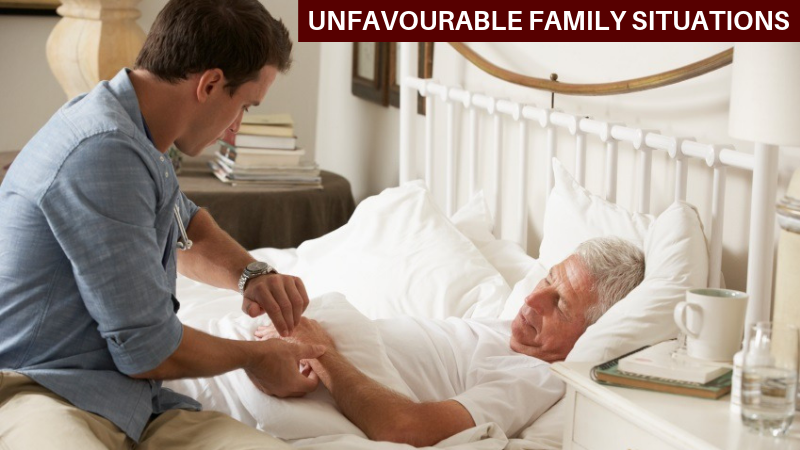 Unfavorable family situation