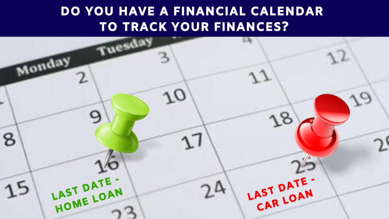 Do you have a financial calendar to track your finances