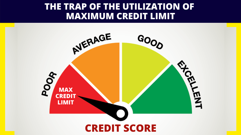 The trap of utilization of maximum credit limit