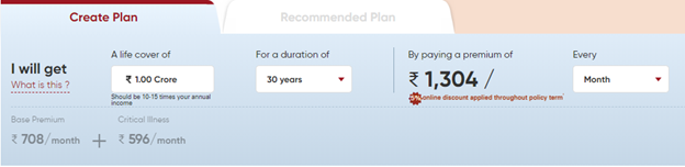 ICICI Pru iProtect Smart Illustrations Premimum Plan3