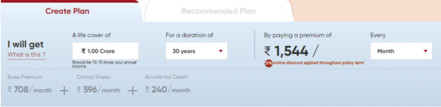 ICICI Pru iProtect Smart Illustrations Premimum Plan4