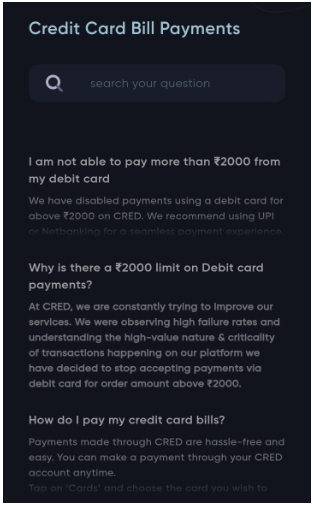 credit card bill payments