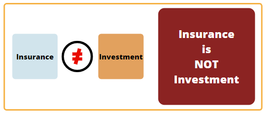 insurance is not investment