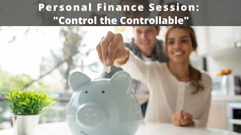 Personal finance session control the controllable